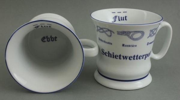 Schietwetterpott mit Seemannsknoten hoch Kaffeebecher Kaffeetasse Kaffee Pott