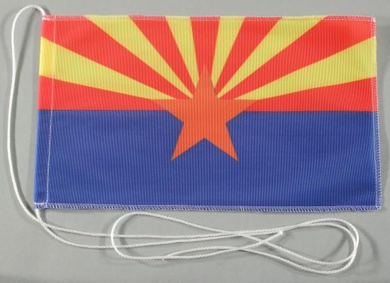 Tischflagge Arizona USA Bundesstaat US State 25x15 cm optional mit Holz- oder Chromständer Tischfahn