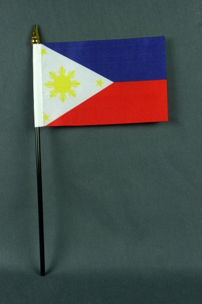 Kleine Tischflagge Philippinen 10x15 cm optional mit Tischfähnchenständer
