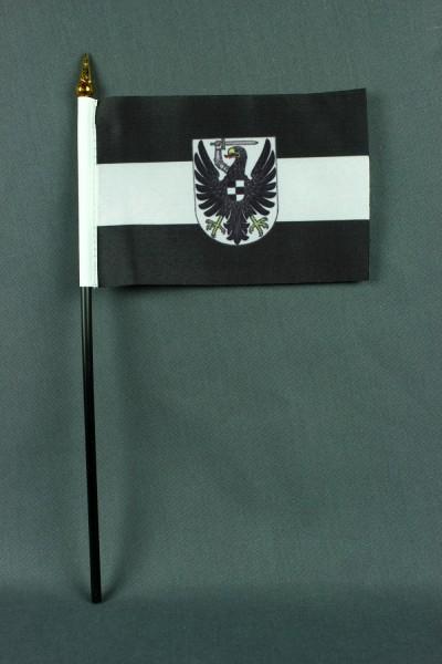 Kleine Tischflagge Westpreussen Preussen 10x15 cm optional mit Tischfähnchenständer