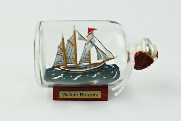 Willem Barentz Niederlande Mini Buddelschiff 50 ml ca. 7,2 x 4,5 cm Flaschenschiff