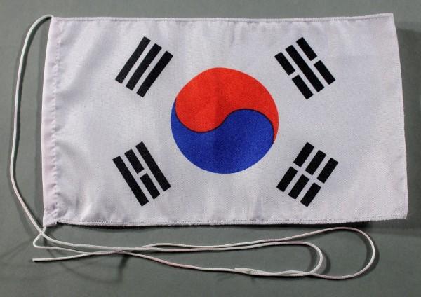 Tischflagge Süd Korea Südkorea 25x15 cm optional mit Holz- oder Chromständer Tischfahne Tischfähnche