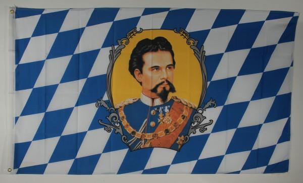 Flagge Fahne Bayern König Ludwig 90x60 cm