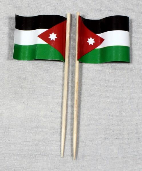 Party-Picker Flagge Jordanien Papierfähnchen in Spitzenqualität 50 Stück Beutel
