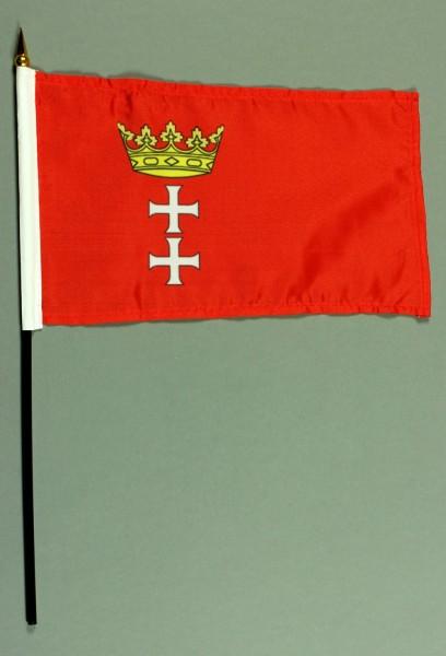 Tischflagge Danzig historisch 15x25 cm BASIC optional mit Tischflaggenständer