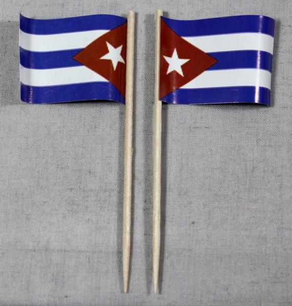 Party-Picker Flagge Kuba Papierfähnchen in Spitzenqualität 50 Stück Beutel Cuba