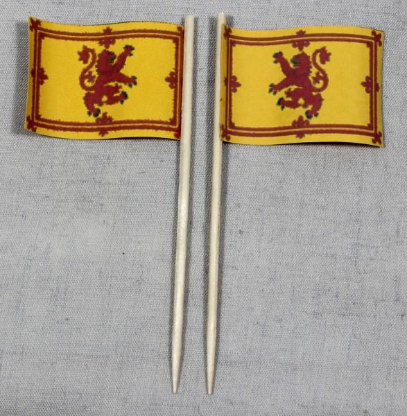 Party-Picker Flagge Schottland Royal Steward Papierfähnchen in Spitzenqualität 50 Stück Beutel