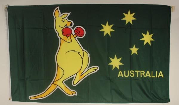 Flagge Fahne : Känguruh Boxer Australien Text