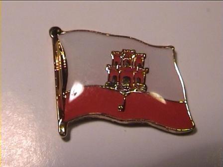 Pin Anstecker Flagge Fahne Gibraltar Flaggenpin Button Badge Flaggen Clip Anstecknadel
