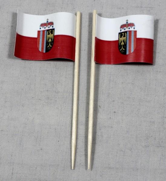 Party-Picker Flagge Oberösterreich Papierfähnchen in Spitzenqualität 50 Stück Beutel