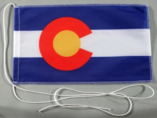 Tischflagge Colorado USA Bundesstaat US State 25x15 cm optional mit Holz- oder Chromständer Tischfah