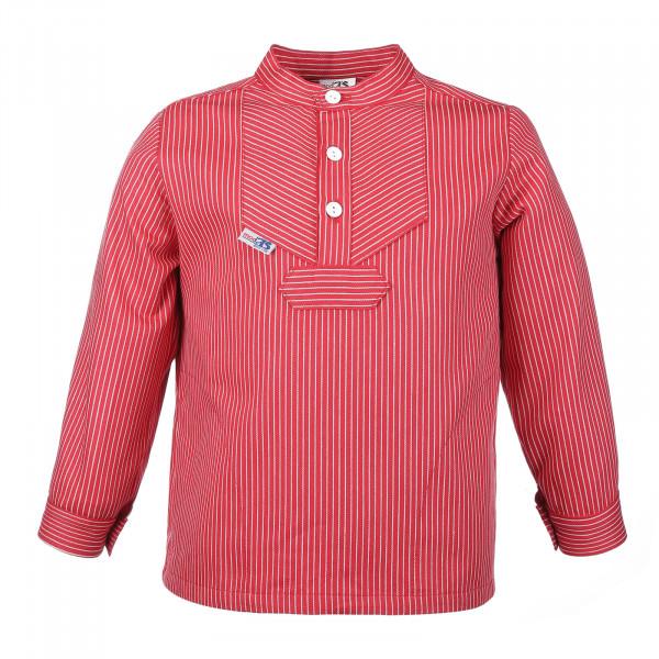 Kinder Fischerhemd - Basic - rot Kinderkleidung Hemd alle Größen Buscherump