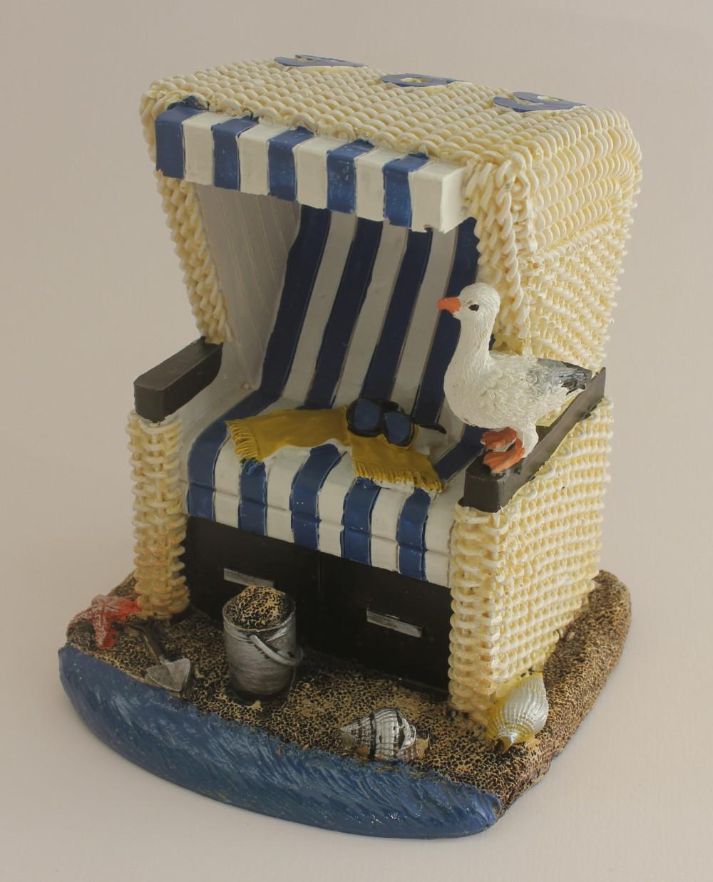 Strandkorb deko blau wei 12 cm wohnaccessoires deko for Wohnaccessoires deko