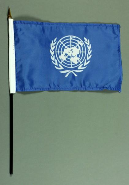 Tischflagge Uno Vereinte Nationen 15x25 cm BASIC optional mit Tischflaggenständer