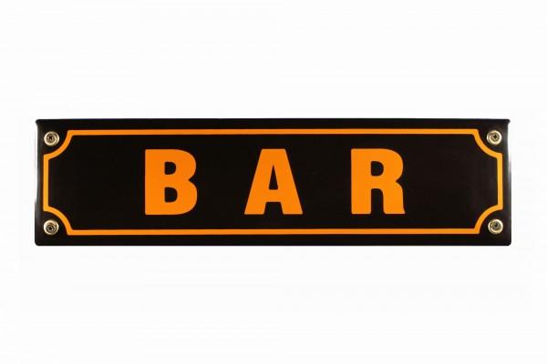 Strassenschild Bar Emaille Schild 30x8 cm Kneipenschild Türschild