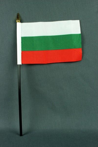 Kleine Tischflagge Bulgarien 10x15 cm optional mit Tischfähnchenständer