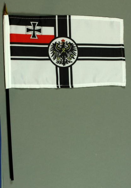 Tischflagge Deutschland Kaiserliche Marine Reichskriegsflagge RKF 25x15 cm BASIC optional mit Tisc