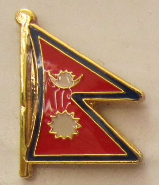 Nepal Pin Anstecker Flagge Fahne Nationalflagge