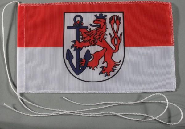 Tischflagge Düsseldorf Stadtflagge 25x15 cm optional mit Holz- oder Chromständer Tischfahne Tischfäh