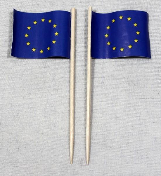 Party-Picker Flagge Europa Europaflagge Papierfähnchen in Spitzenqualität 50 Stück Beutel