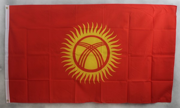Flagge Fahne : Kirgistan Nationalflagge Nationalfahne