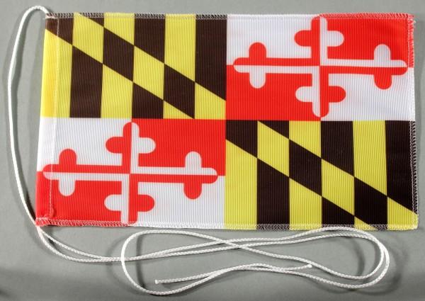Tischflagge Maryland USA Bundesstaat US State 25x15 cm optional mit Holz- oder Chromständer Tischfah