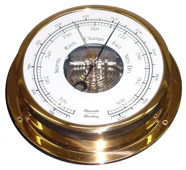 Schiffs Barometer 155 mm Messing