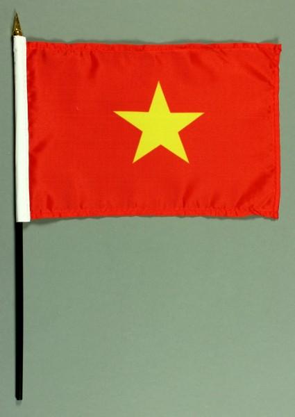 Tischflagge Vietnam 25x15 cm BASIC optional mit Tischflaggenständer