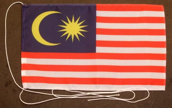 Tischflagge Malaysia 25x15 cm optional mit Holz- oder Chromständer Tischfahne Tischfähnchen