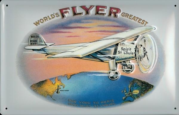 Blechschild Nostalgieschild Spirit of St. Louis Lindbergh Flugzeug