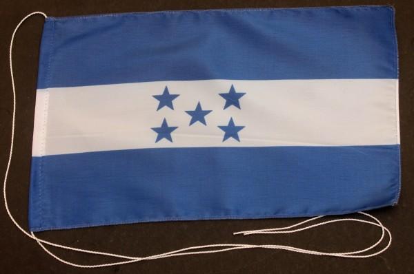 Tischflagge Honduras 25x15 cm optional mit Holz- oder Chromständer Tischfahne Tischfähnchen