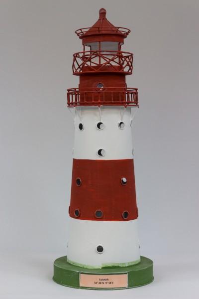 Blechleuchtturm Falshöft 44 cm Leuchtturm Modell mit Teelichthalter