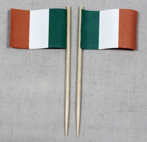 Party-Picker Flagge Irland Papierfähnchen in Spitzenqualität 50 Stück Beutel