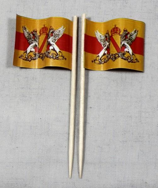 Party-Picker Flagge Baden Papierfähnchen in Spitzenqualität 50 Stück Beutel