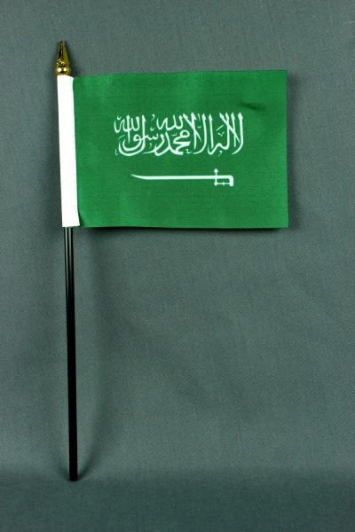 Kleine Tischflagge Saudi Arabien 10x15 cm optional mit Tischfähnchenständer