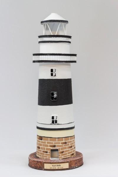 Blechleuchtturm Kiel - Bülk 43 cm Leuchtturm Modell mit Teelichthalter