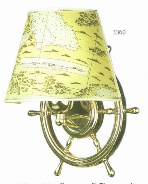 Wandlampe Messing