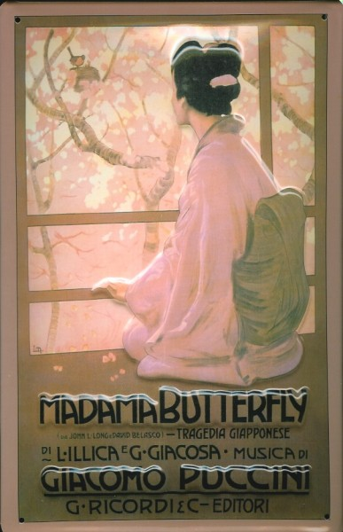 Blechschild Nostalgieschild Madama Butterfly Puccini Oper