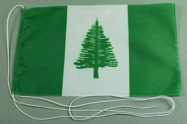 Tischflagge Norfolk Inseln 25x15 cm optional mit Holz- oder Chromständer Tischfahne Tischfähnchen