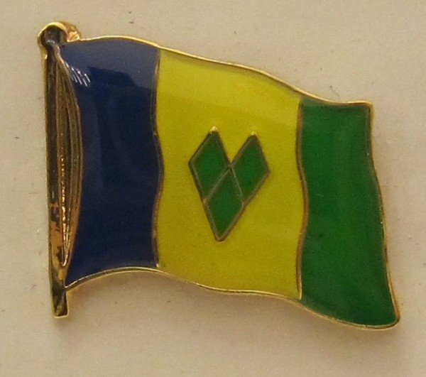St. Vincent und Nevis Pin Anstecker Flagge Fahne Nationalflagge