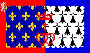 Flagge Fahne : Pays de la Loire Frankreich