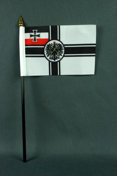 Kleine Tischflagge Kaiserliche Marine Reichskriegsflagge RKF 10x15 cm optional mit Tischfähnchenstän