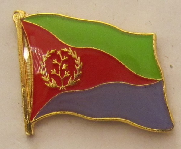 Eritrea Pin Anstecker Flagge Fahne Nationalflagge