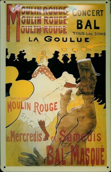 Blechschild Nostalgieschild Moulin Rouge la Goulue Paris