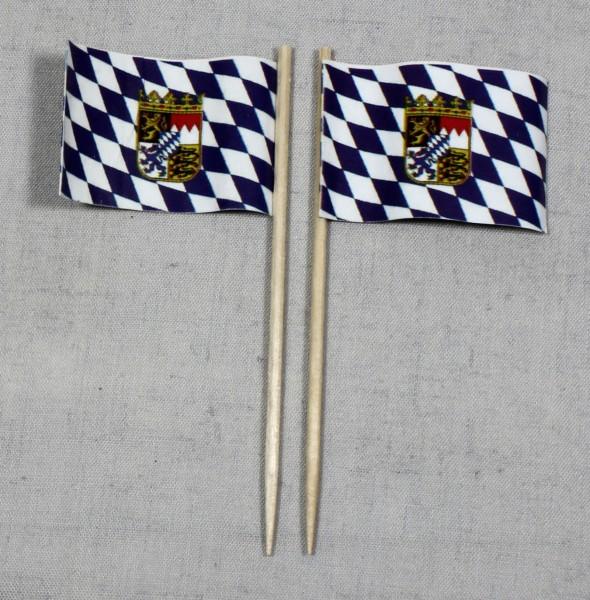 Party-Picker Flagge Bayern Papierfähnchen in Spitzenqualität 50 Stück Beutel