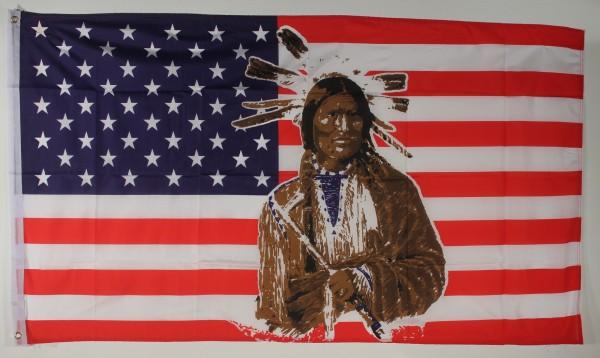 Flagge Fahne : USA / Indianer SONDERPOSTEN