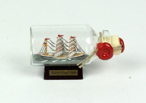 Gorch Fock Mini Buddelschiff 10 ml 6x3,5 cm Flaschenschiff