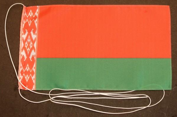 Tischflagge Weißrussland 25x15 cm optional mit Holz- oder Chromständer Tischfahne Tischfähnchen