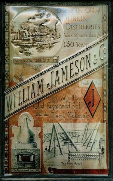 Blechschild Jameson Whiskey Fabrik Dublin Ireland Schild retro Nostalgieschild