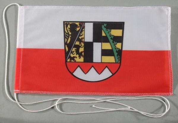 Tischflagge Oberfranken Franken 25x15 cm optional mit Holz- oder Chromständer Tischfahne Tischfähnch